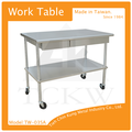 Industrielle plat haut banc de travail/cuisine en acierinoxydable table l'island/heavy duty table de travail