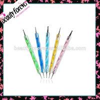 Professional 5pcs/set 2 way dotting pen for nail art/nail dotting pen