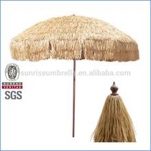 Straw umbrella,hula straw beach umbrella,straw outdoor umbrella