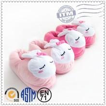 Fábrica personalizada zapatillas caliente venta para la promoción, zapatos de conejo