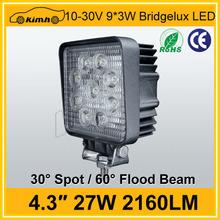 Excellent 2160LM 27W 12v 24v led work lights for boat