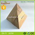 Promocional 3D engraçado montagem de madeira crianças brinquedos pirâmide de quebra-cabeça