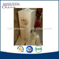 wholesale unfinished single bottle pine wood wine box