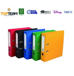 PP Coated FSC Business/Office File Holder Decorative Portfolio, A3/A4/FC Size PE Covered Arch Lever File