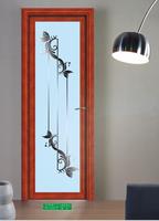 Glass aluminium bedroom toilet door/bathroom interior door price
