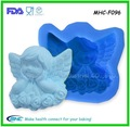 Atacado Handmade 3D molde sabão silicone anjo moldes de flores bebê rosa anjo vela mould bombom moldes