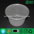 2014 transparente saladeira de plástico com tampa 1000ml