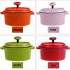 Different color enamel best cast iron cookware casserole