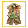 coreano de moda de verano los niños varones ropa conjunto