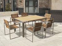 WF-T3011-150 teak stainless steel outdoor furniture