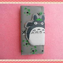 Hot Anime Totoro Magnetic Buckle Zipper Cartoon Wallet Coin Purse Children Clutch Bags