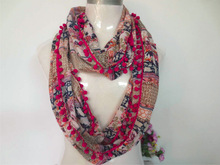 2014 new fashion polyester lady woven loop scarf