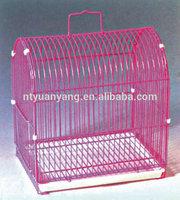 small plastic pan metal wire bird breeding cage