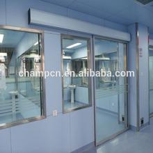 HD084 aluminum automatic glazed hermetic door for ICU rooms