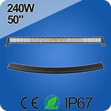 2years warranty High Quality Radius 50 inch led light bar,240W offroad led light bar