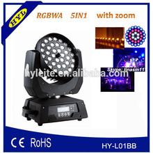dj wash led stage 36pcs*15w rgbwa 5in1led moving head wash zoom, night club led