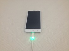 novel design colorful micro usb cable with led light