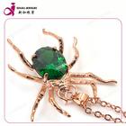 Fashion copper alloy synthetic gemstone and cz Diamond semi precious stone pendants