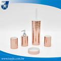 diseño de onda forma de cilindro de baño conjunto de accesorios