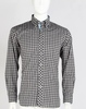 2015 Mens contrast color plaids long sleeve button down casual shirt