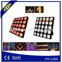 stage dj night club led lights 25pcs * 9w rgb 3in1 5x5 led matrix, dot matrix display