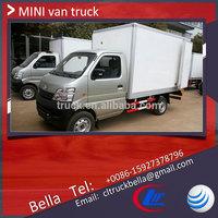 China mini van truck, 1ton CHANGAN dry box truck body, delivery van