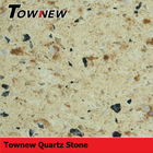 sparkling multicolor with grain cheap and fine heat-resistance quartz slab