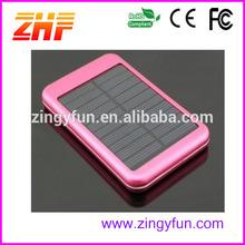 2015 wholesale portable mobile power bank,5000mah solar mobile phone charger