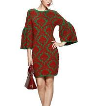 2015 Beautiful Sexy Chic Ladies Wear Fine knit Flower Jacquard Women Dresses