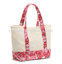 floral canvas women's handbag
