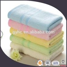 cheap wholesale 100%cotton solid plain dyed border face towel