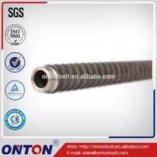 R38L Steel hollow threaded rod self-drilling rock bolt
