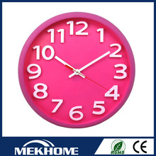plastic 3d clear acrylic wall clock / chinese wall clock