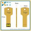 Free logo Customised USB flash, High quality Metal key USB flash