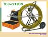 TEC-Z712DN pipe borescope inspection camera monitor