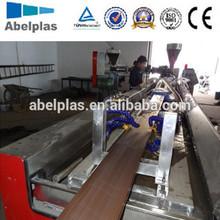 wood plastic composite decking machine(wpc floor making)