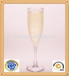 5oz 170ml unbreakable plastic champagne flute glass ware