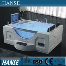 HS-B277A luxurious massage bathtub/2 person indoor sex bath tub with tv