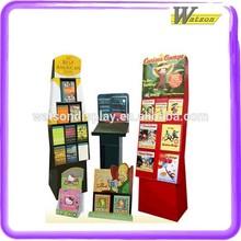Good Design Book And Magazine Sauce Bottle Cardboard Display Shelf