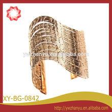 fashion vintage golden wide metal arm cuff