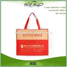 Promotional custom non woven bag, reusable shopping bag,non woven pp bag