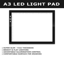 art craft tattoo graphics tracing A3 led light pad