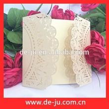 การออกแบบcustonพิธีการ์ดแต่งงานการ์ดแต่งงานcradลูกไม้