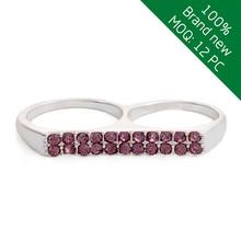 Alibaba china fashion jewelry latest adult power double finger ring
