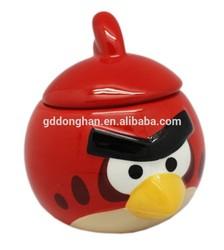hot sale creative ceramic animal bird mug cup with lid