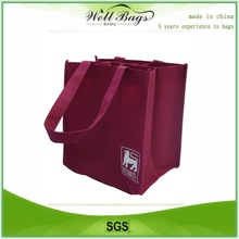 Non woven wine bags for shopping,folding bag, tote bag
