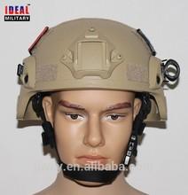 Kevlar Mich2000 helmet Tan /MICH2000 ballistic Moduler Integrated Communications Helmet no PS from factory