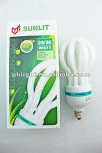 17mm 220V CFL 5U lotus energy saving lamp with cheap price