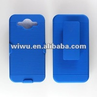 Plastic mobile phone case for Huawei M886 with rotating belt clip