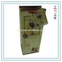 China Alibaba wholesale custom high quantity paper wine bag christmas wine paper bag